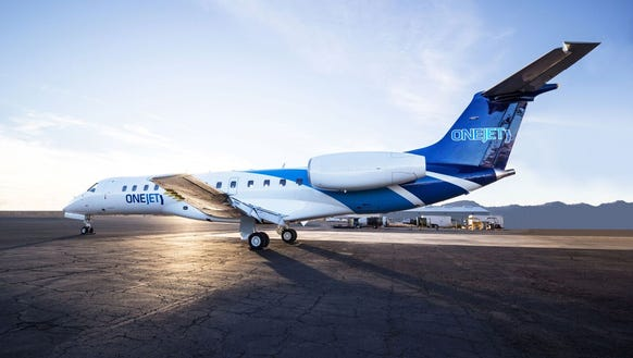 This image, provided by OneJet, shows and Embraer regional