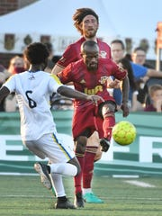 Detroit City FC midfielder Cyrus Saydee will return for an eighth season.