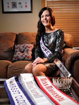 Kimberly Stommes, 26, talks about being recently crowned Mrs. Minnesota at her home  March 15.
