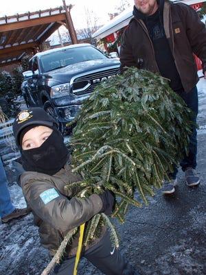 "The Verona Police PBA Local 72 held their 9th Annual ""Christmas Tree Drive""."