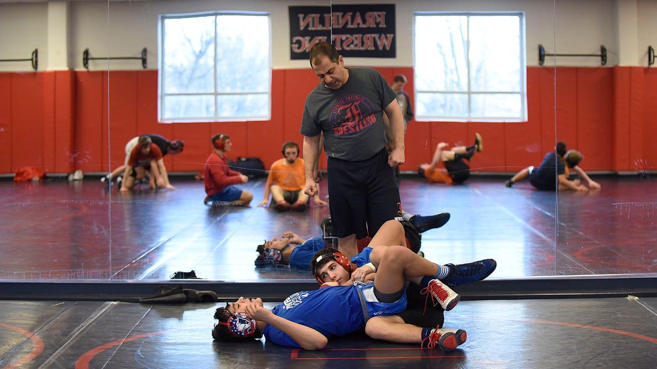 Franklin coach Dave Chiola explains wrestling