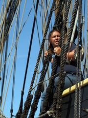 First Mate Kori Pepper, of Gig Harbor, looks out from