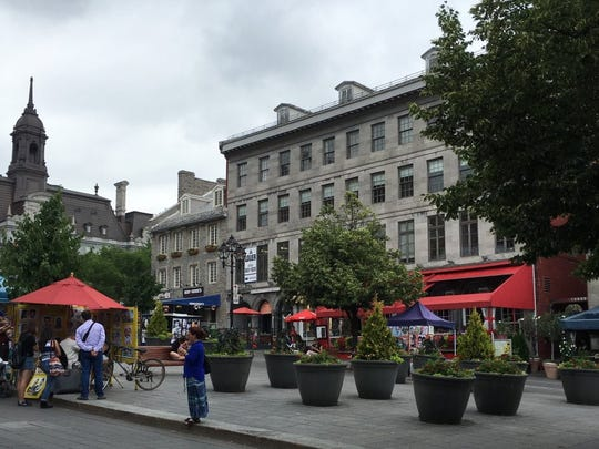 Place Jacques-Cartier in Montreal, Canada, is pictured. Greer City Manager Ed Driggers said Trade Street will look something like Old Montreal after the city's streetscaping project is complete.