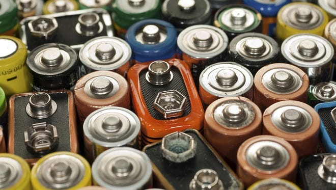 Old exhausted batteries