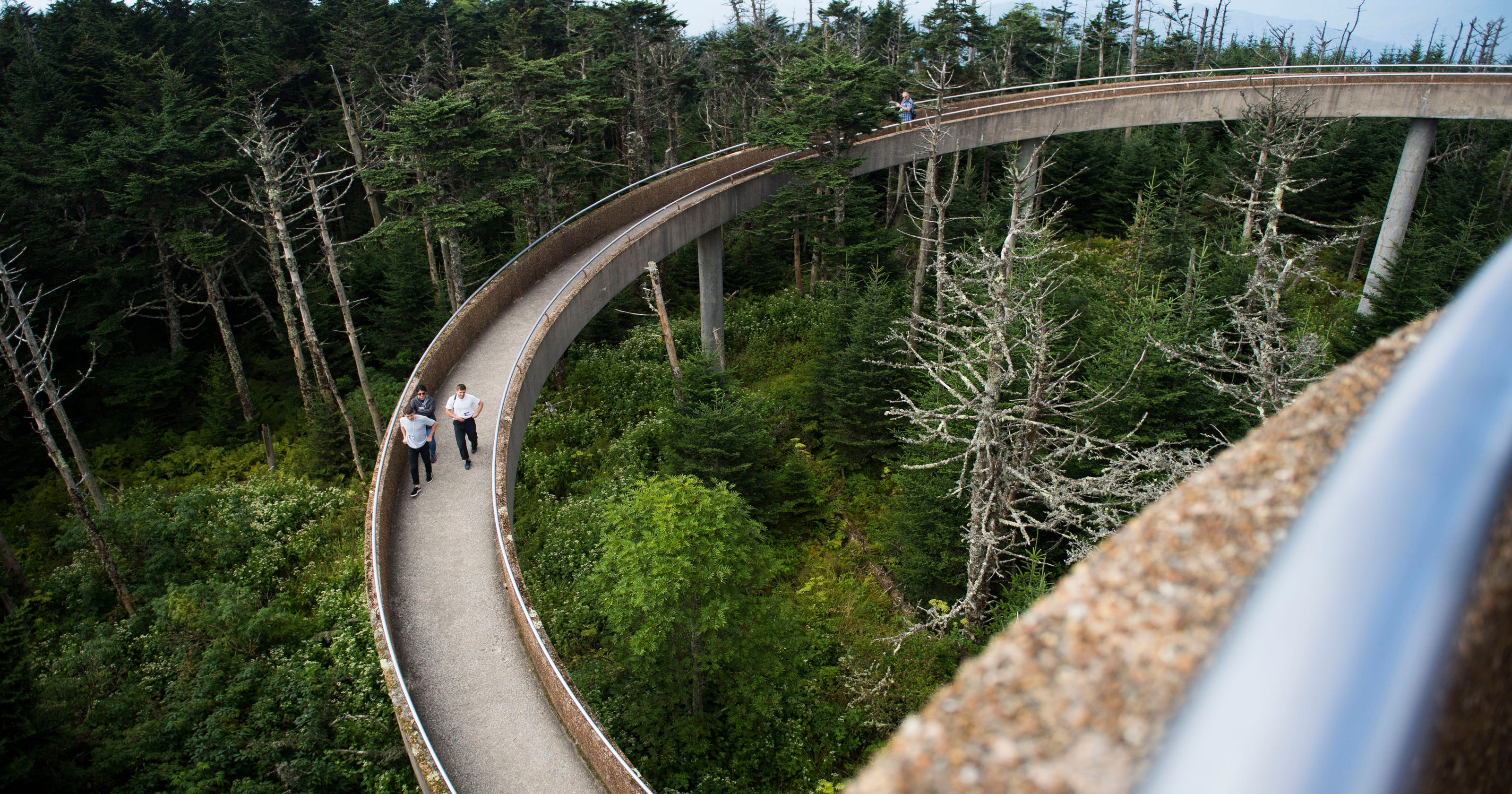 Clingmans Dome Tower Reopens For Winter Repairs To Resume