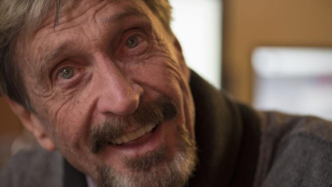 John McAfee, founder of McAfee Anti-Virus, announced his candidacy for president.