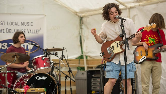Pennsylvania- based indie rock band The Districts play Arden's Shady Grove Music Festival in 2013.