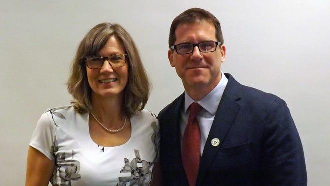 (Left) Linda Wilson, Galion High School art teacher
