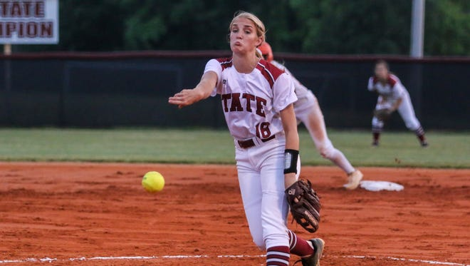 Tate High pitcher Hannah Brown picked up a shutout win against Milton on Friday.