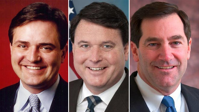 From left: Congressman Luke Messer, Congressman Todd Rokita and Sen. Joe Donnelly.