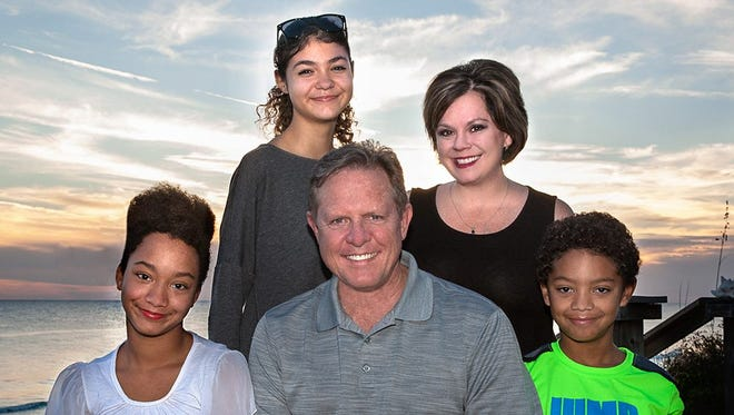 The Hawkins family adopted their children from foster care when they were young children.