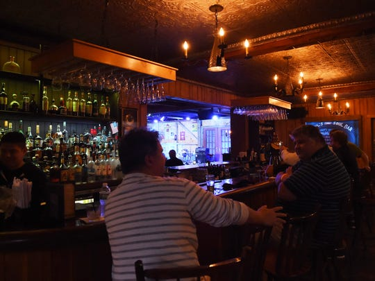 A view of the bar at Daryl's House in Pawling.