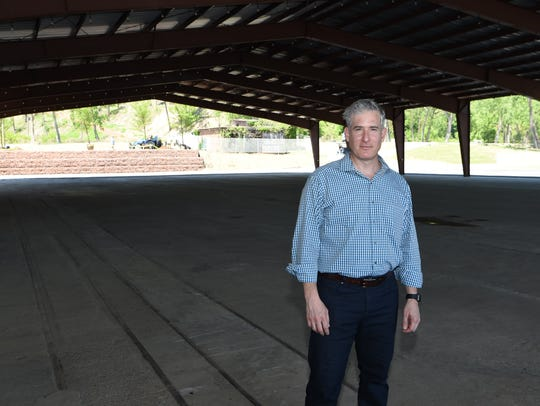Property owner Karl Slovin at the Hutton Brickyards in Kingston in 2017, before recent upgrades were made at the Hudson River site.