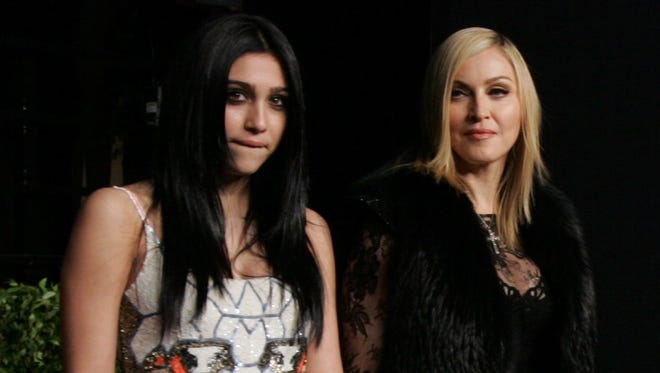 Lourdes Leon and Madonna arrive at the Vanity Fair Oscar Party at the Sunset Tower in Los Angeles, Calif., Sunday, Feb. 27, 2011.