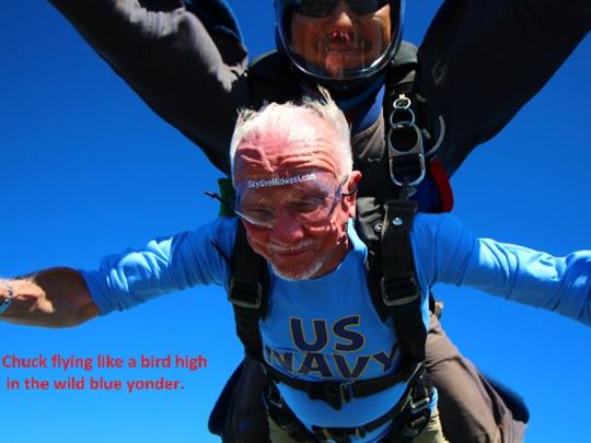 Chuck Chapeta, 91, said he flew like a bird as he and
