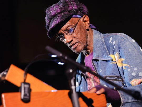 Bernie Worrell at the keys performing in Brooklyn in 2013.