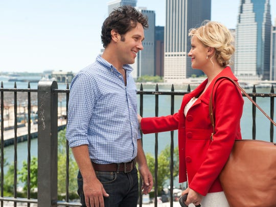"""Paul Rudd and Amy Poehler in a scene from """"They Came"""