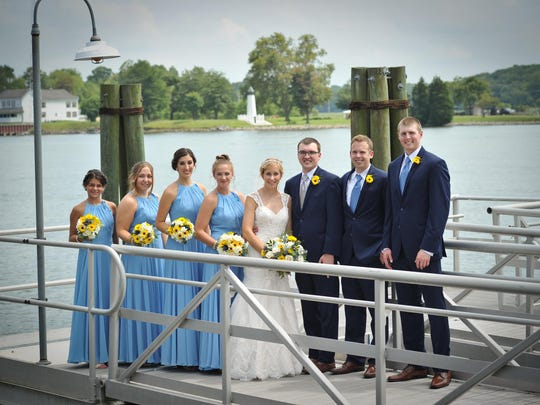 The wedding party of Meghan Delp and Matthew Graham.