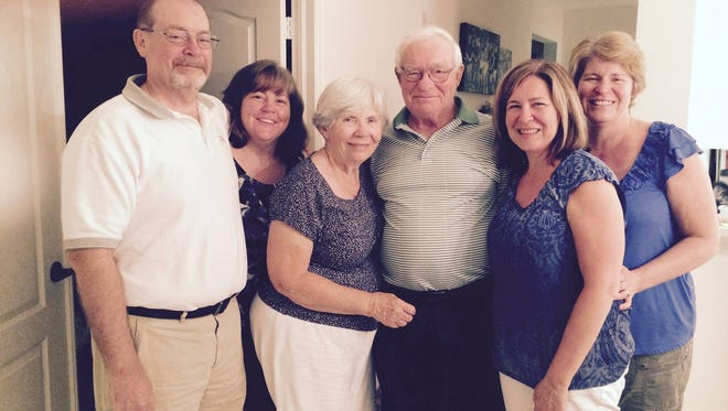 Editor Stephanie Angel (second from left) and family celebrating her father's birthday this weekend.