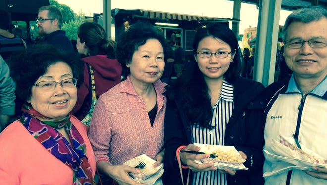 Women who lived on same street in Taiwan meet accidentally