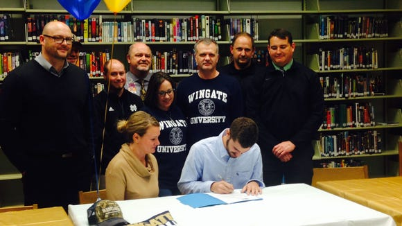 North Buncombe senior quarterback Chase Parker has signed to play college football for Wingate.