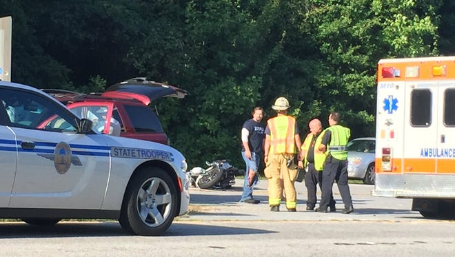 Motorcycle wreck on New Easley Highway near Sentell Road in Greenville County is slowing traffic toward the city.