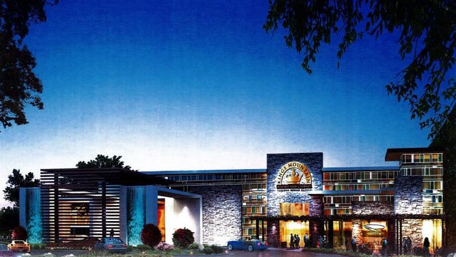 A rendering of the proposed Kings Mountain casino from Rob Schaeffer Visualization and Planning.