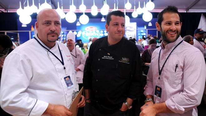 Food Network star Mario Rizzotti, center, has selected Angelina in downtown Green Bay as one of four Wisconsin restaurants he's visiting on his 4 the Love of Italian Food Tour.