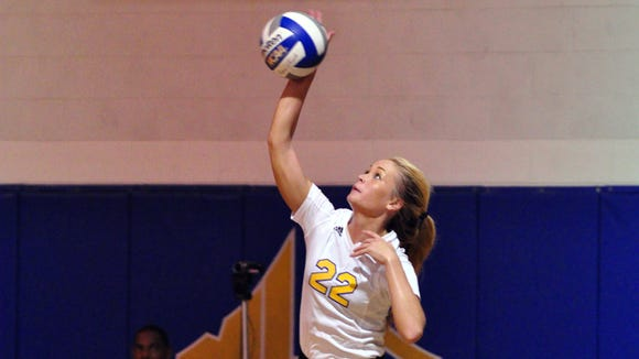 North Buncombe graduate Mary Kate Griffin now plays college volleyball for Mars Hill.