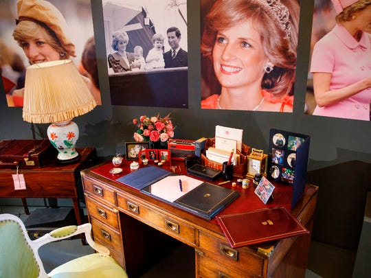 The desk at which Britain's Diana, Princess of Wales,