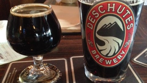 DeSchutes' The Abyss (left) and Hop in the Dark. More good stuff from the Bend, Oregon brewery