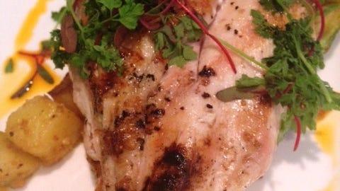 Roasted chicken at the Back Burner Restaurant in Hockessin.