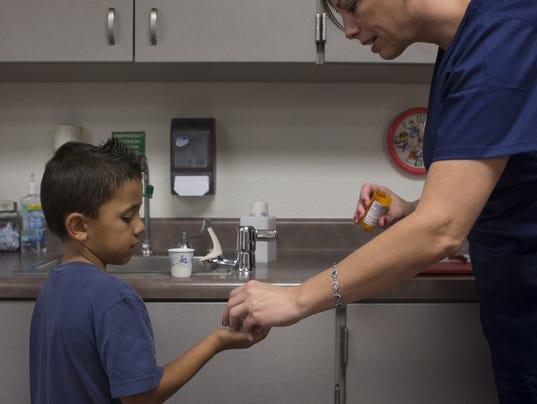 School nurse Jennifer Costello