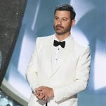 Review: Kimmel wins as cheeky, easygoing Emmy host