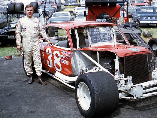 Jerry Cook used this Ford Falcon-bodied car to help