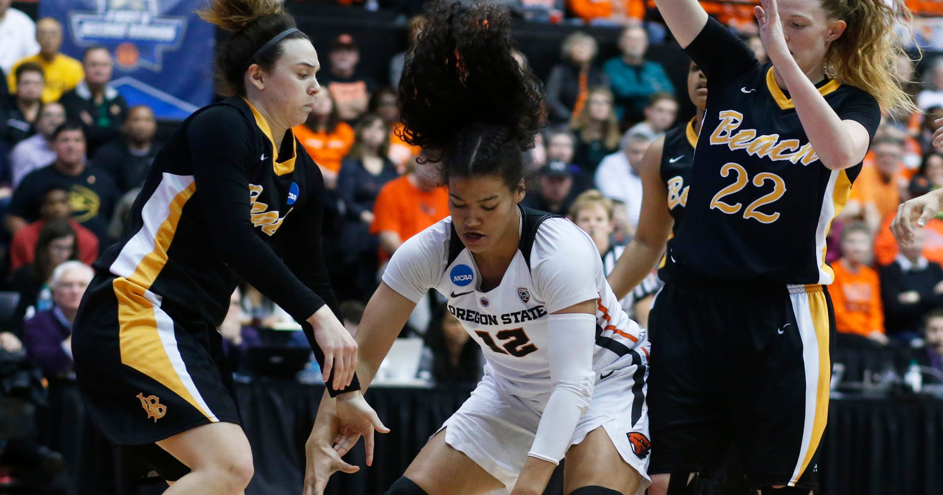 edec26efb Second-seeded Oregon State survives Long Beach State 56-55