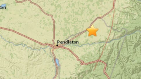 A magnitude 3.0 earthquake struck near Pendleton on Wednesday.