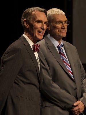 Bill Nye (left) and Ken Ham before their debate on January 4, 2014.