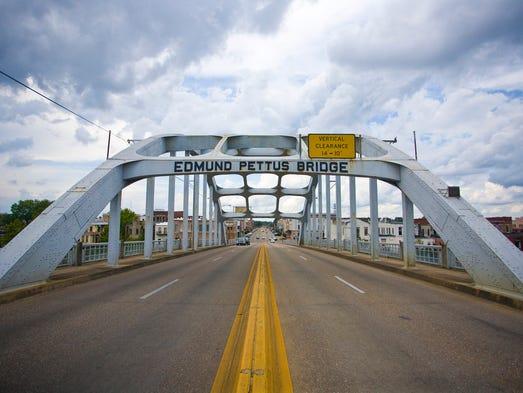 Alabama - Selma Bridge, also known as the Edmund Pettus