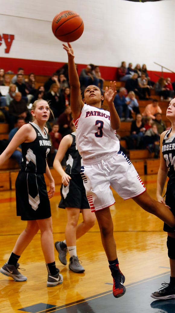 Lenape Valley Thalia Johnson goes to the hoop for two