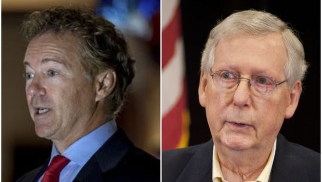U.S. Senators Rand Paul and Mitch McConnell.