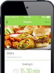 A screenshot of the NoWait app. Soon, Chili's will