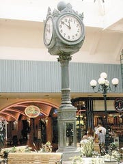 A clock that now sits at City Plaza in downtown Reno is seen at the old Park Lane Mall where it lived from about 1967 to 2007.
