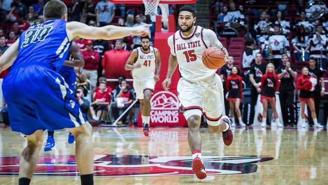 Ball State faces off against Indiana State at Worthen Arena Tuesday, Nov. 15, 2016.