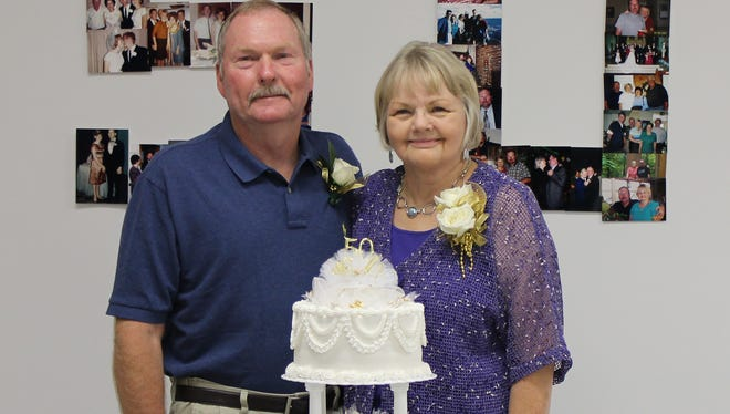 Walter and Bea (Reid) Siebeneicher of Deville celebrated their 50th wedding anniversary Aug. 7. Friends and family helped the couple celebrate at a reception Aug. 9 at Prince of Peace Lutheran Church in Pineville.