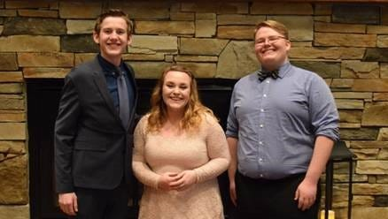 The 2017 Youth Tour winners, from left to right, who will represent WRVEC in Washington, D.C., in June, are Lance Junck, Victoria Walling, and Corbyn Snodgrass.