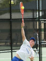 Scotty Ball is one of a pair of tennis players at Huntingdon