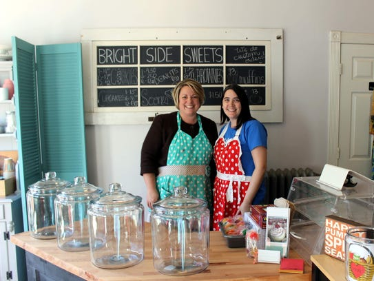 Jen Check and Christine Berhhardt, owners of Bright