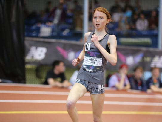 Monica Hebner finished second in the 5,000 meters at