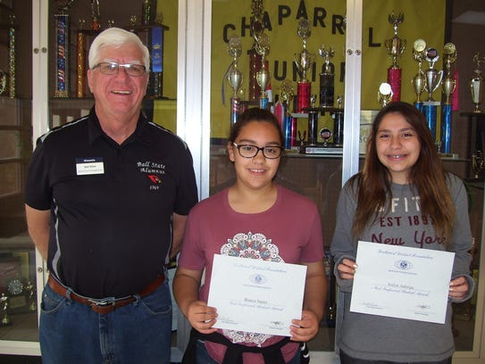 Chaparral Middle School left to right: Kiwanis Club